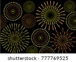 fireworks background pattern.   ... | Shutterstock .eps vector #777769525