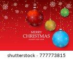 christmas light vector... | Shutterstock .eps vector #777773815