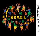 brazil carnival. vector... | Shutterstock .eps vector #777774496