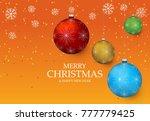 christmas light vector... | Shutterstock .eps vector #777779425