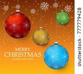 christmas light vector... | Shutterstock .eps vector #777779428