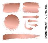 set of brush strokes for the... | Shutterstock .eps vector #777782506