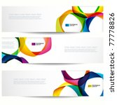 abstract banner with forms of... | Shutterstock .eps vector #77778826
