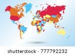 color world map vector | Shutterstock .eps vector #777792232