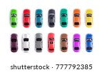 Stock photo car toy on white background top view 777792385