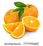 Orange Fruits Isolated On White ...