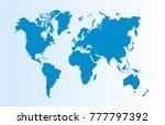 world map vector   Shutterstock .eps vector #777797392