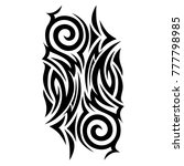 tribal pattern abstract tattoos ... | Shutterstock .eps vector #777798985