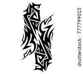 tribal pattern tattoo vector... | Shutterstock .eps vector #777799015