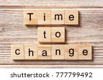 time to change word written on... | Shutterstock . vector #777799492