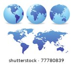 world map | Shutterstock .eps vector #77780839