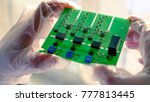 electronic board in top view ... | Shutterstock . vector #777813445