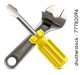 vector wrench and screwdriver... | Shutterstock .eps vector #77782096