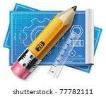vector technical drawing xxl... | Shutterstock .eps vector #77782111