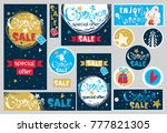 merry christmas banner set with ...   Shutterstock .eps vector #777821305