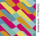 vector geometric seamless... | Shutterstock .eps vector #777821422