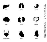 set of icons of human organs ... | Shutterstock .eps vector #777821566