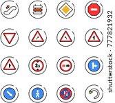 line vector icon set  ... | Shutterstock .eps vector #777821932
