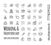 wedding and valentines day... | Shutterstock .eps vector #777829522
