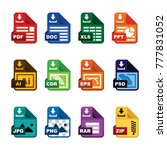 document icon  file extension ... | Shutterstock .eps vector #777831052