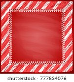 christmas frame with red... | Shutterstock .eps vector #777834076