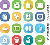 flat vector icon set   shopping ... | Shutterstock .eps vector #777838465