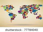 abstract illustration of social ... | Shutterstock .eps vector #77784040