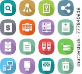 flat vector icon set   search... | Shutterstock .eps vector #777840616