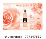 whitening lotion ads  floral... | Shutterstock .eps vector #777847582