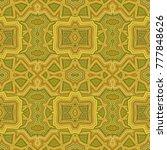 yellow   mustard seamless... | Shutterstock .eps vector #777848626