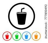 small fast food soda cup icon... | Shutterstock .eps vector #777850492
