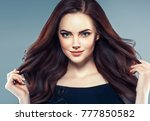 beauty woman face portrait.... | Shutterstock . vector #777850582