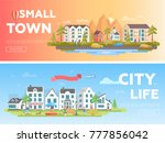 town and city   set of modern...   Shutterstock .eps vector #777856042