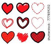 nine heart   cartoon vector and ... | Shutterstock .eps vector #777859252