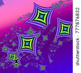 pattern of abstract rhombus. 3d ... | Shutterstock . vector #777876832