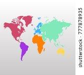 world map. europe asia america... | Shutterstock .eps vector #777878935