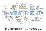 investment  strategy  profit ... | Shutterstock .eps vector #777880192