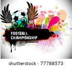pattern theme soccer background ... | Shutterstock .eps vector #77788573