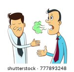bad breath from a man's mouth ... | Shutterstock .eps vector #777893248