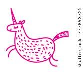 cute unicorn. magic and fairy... | Shutterstock .eps vector #777893725