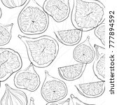 vector seamless pattern with... | Shutterstock .eps vector #777894592