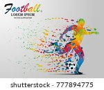Visual Drawing Football Sport...