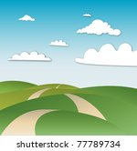 beautiful landscape cloud with... | Shutterstock .eps vector #77789734