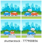 vector flat cartoon car and... | Shutterstock .eps vector #777900856