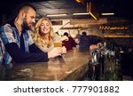 evening at the bar. romantic... | Shutterstock . vector #777901882
