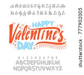 happy valentines day  font.... | Shutterstock .eps vector #777902005