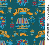 seamless pattern park.... | Shutterstock .eps vector #777902662