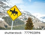 Horse Riders Road Sign Located...