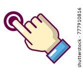 cursor hand click icon. cartoon ... | Shutterstock .eps vector #777910816