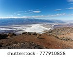 the salt lake of death valley  | Shutterstock . vector #777910828